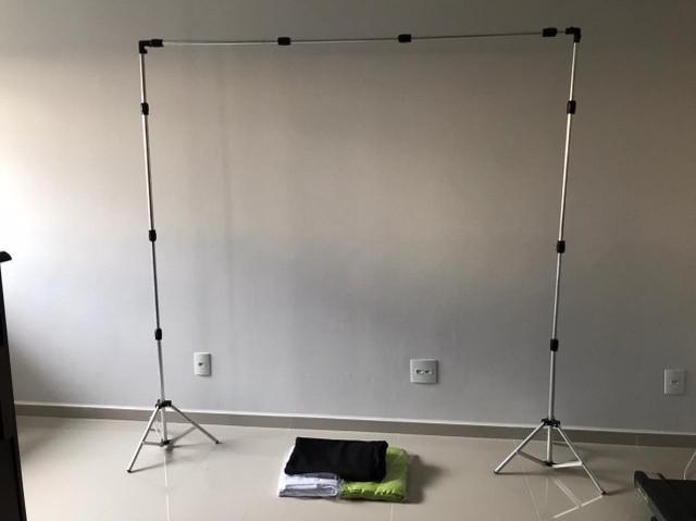 Suporte fundo infinito p/ estúdio fotográfico 2x3m + 3