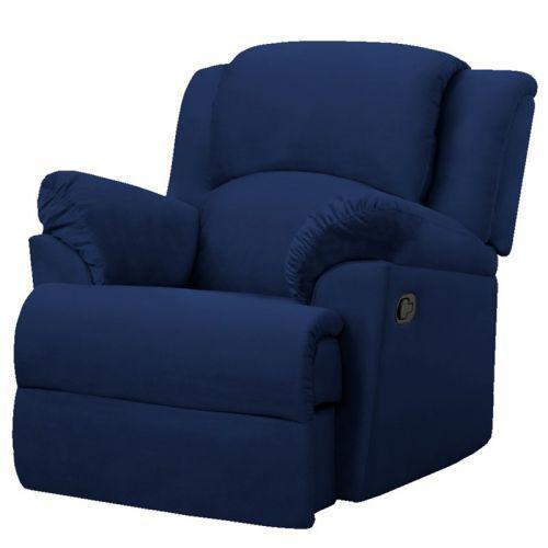 Poltrona caricia papi reclin/u00e1vel suede azul marinho -