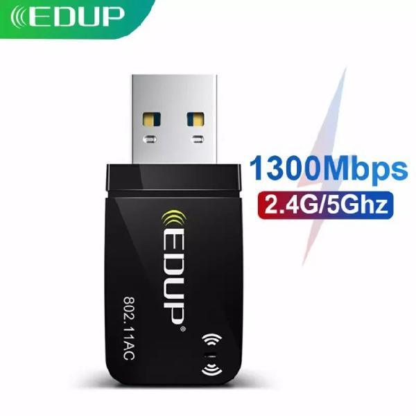 Adaptador rede edup usb 3.0 wi-fi 2.4g / 5ghz 1300mbps