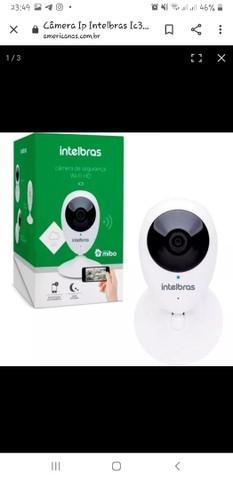 Kit câmera ip wifi intelbras ic3 mibo 720p com cartão de