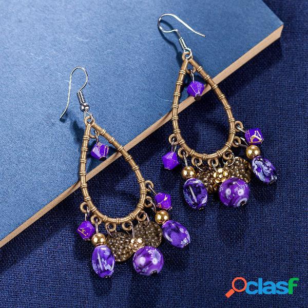 Bohemian tassels drop earrings long style turquesa brincos retro mulheres brincos