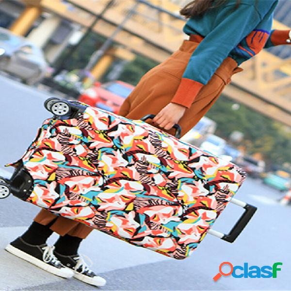 Carrinho de capa de bagagem elástica estilo chinês abstração caso capa durável mala protetor