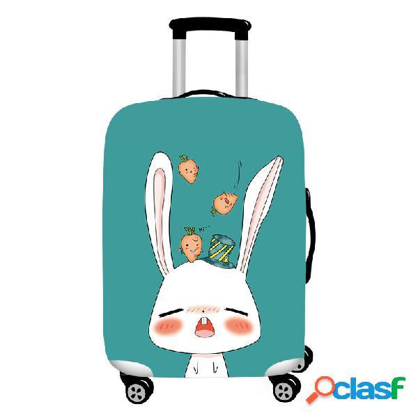 Protetor durável da mala de viagem da tampa elástica da bagagem do coelho bonito dos desenhos animados de honana