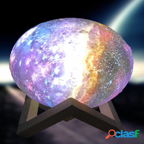 15 cm 3d pintado ao controlee remoto 7 cores lâmpada lua estrela luz lunar led cobrando lâmpada noturna lâmpada de mesa