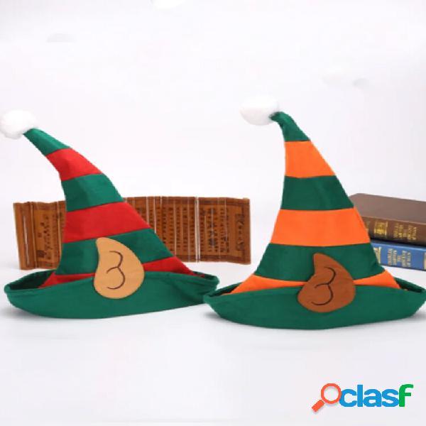 Festa de dança festiva de natal ao ar livre cosplay palhaço contraste cor sem borda chapéu