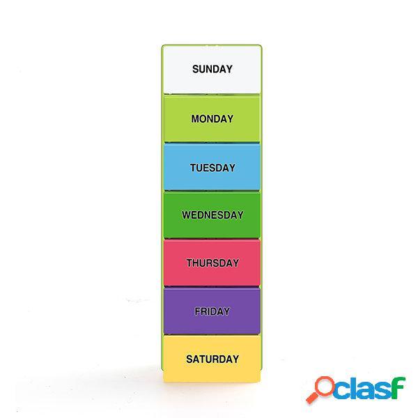 Kcasa kc-js2804 7 dias pill box organizer portátil caso de armazenamento de medicina semanal de armazenamento