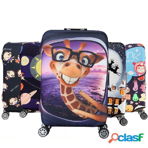 Carrinho de capa de bagagem elástica honana cartoon cute animal caso capa protetora de viagem quente mala
