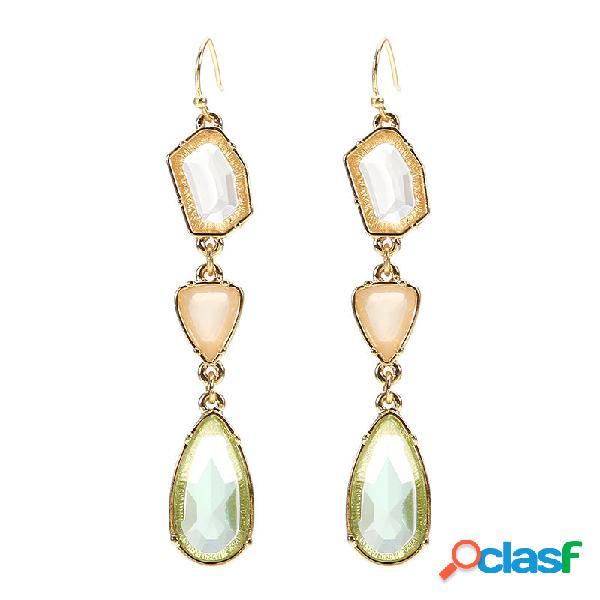 Bohemian tassel brincos vintage long crystal earrings