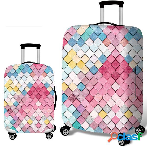 Protetor durável da mala de viagem da tampa elástica da bagagem do estilo de embossment da sereia de honana