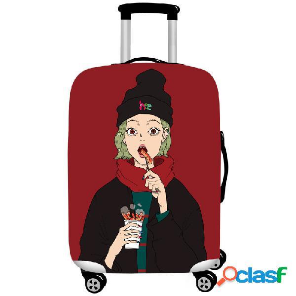 Protetor durável da mala de viagem da tampa elástica legal da bagagem das meninas