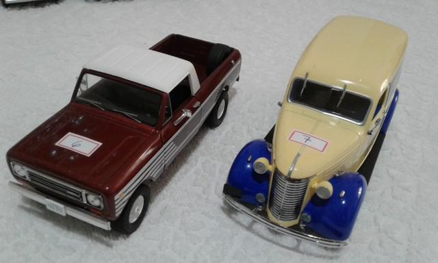 Coleção rara 7 miniaturas pick-ups / furgão tops 1ª