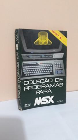 Livro coleção de programas para msx