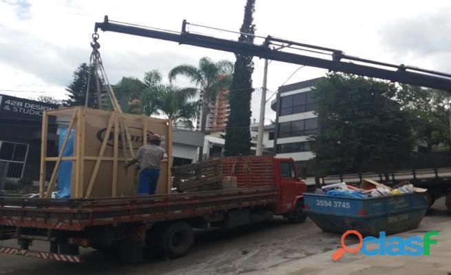 Transporte Urgente Gravatai RS Synttsserv 51 9 92314646 munck guindaste remoção descarga