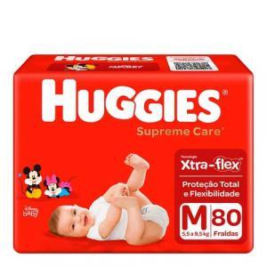 2 Pacotes de Fralda Huggies Supreme Care M