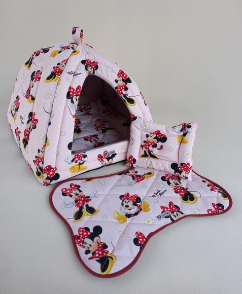Casinha Iglu para Pets Minnie 50x50 com 4 peças