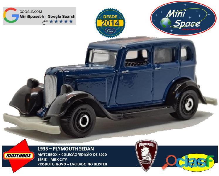 Matchbox 1933 Plymouth Sedan cor Azul 1/64
