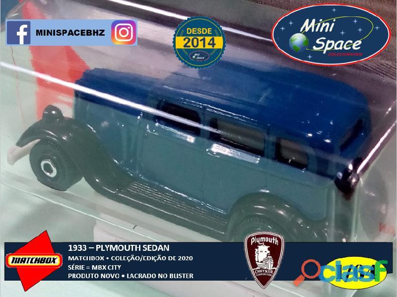 Matchbox 1933 Plymouth Sedan cor Azul 1/64 3