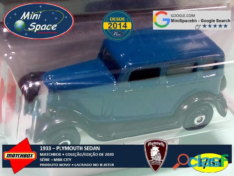 Matchbox 1933 Plymouth Sedan cor Azul 1/64 4