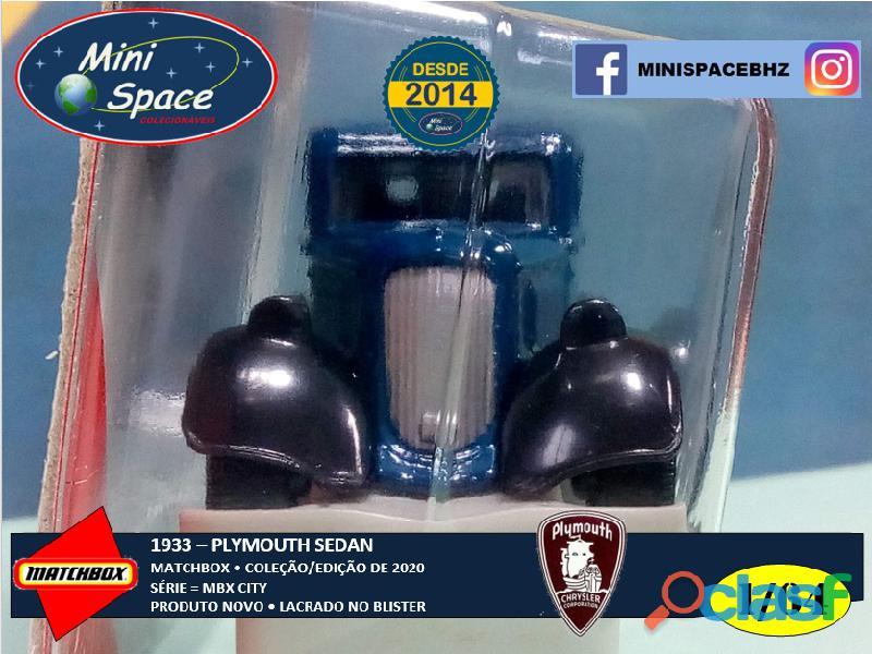 Matchbox 1933 Plymouth Sedan cor Azul 1/64 6