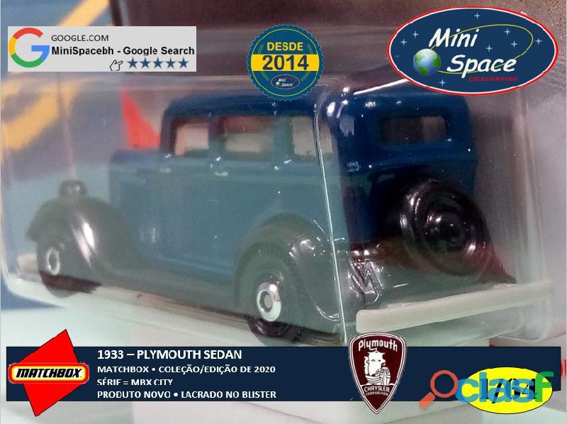 Matchbox 1933 Plymouth Sedan cor Azul 1/64 7