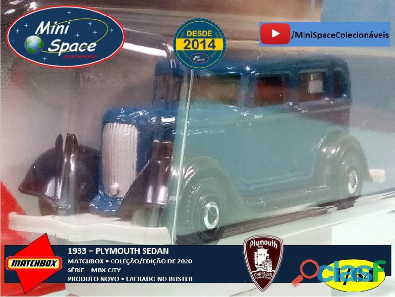 Matchbox 1933 Plymouth Sedan cor Azul 1/64 8
