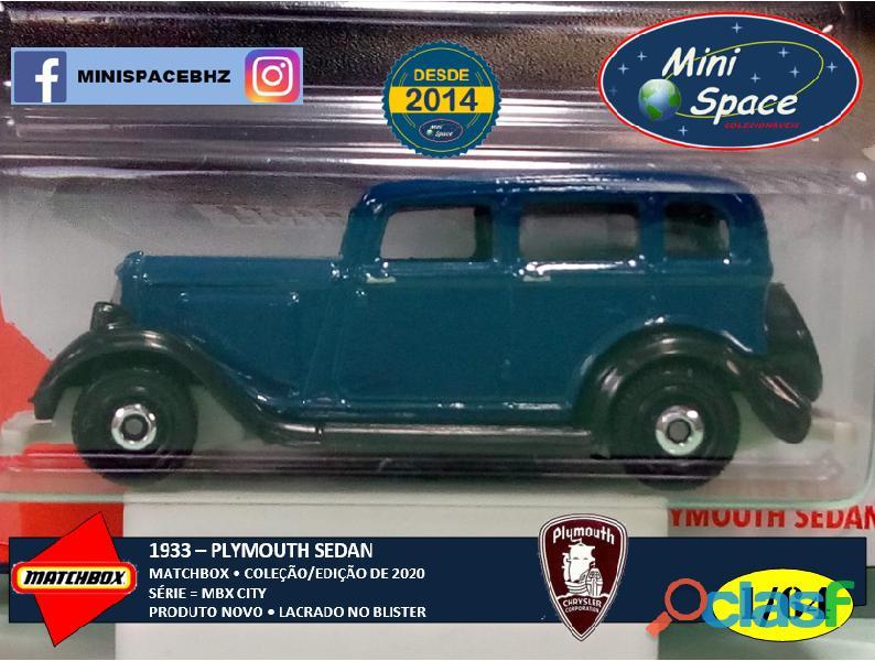 Matchbox 1933 Plymouth Sedan cor Azul 1/64 9