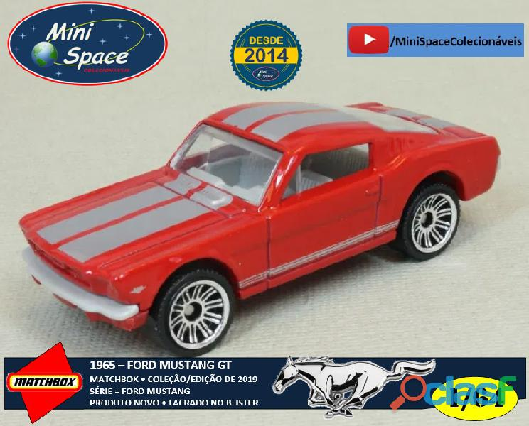 Matchbox 1965 Ford Mustang GT cor Vermelho 1/64