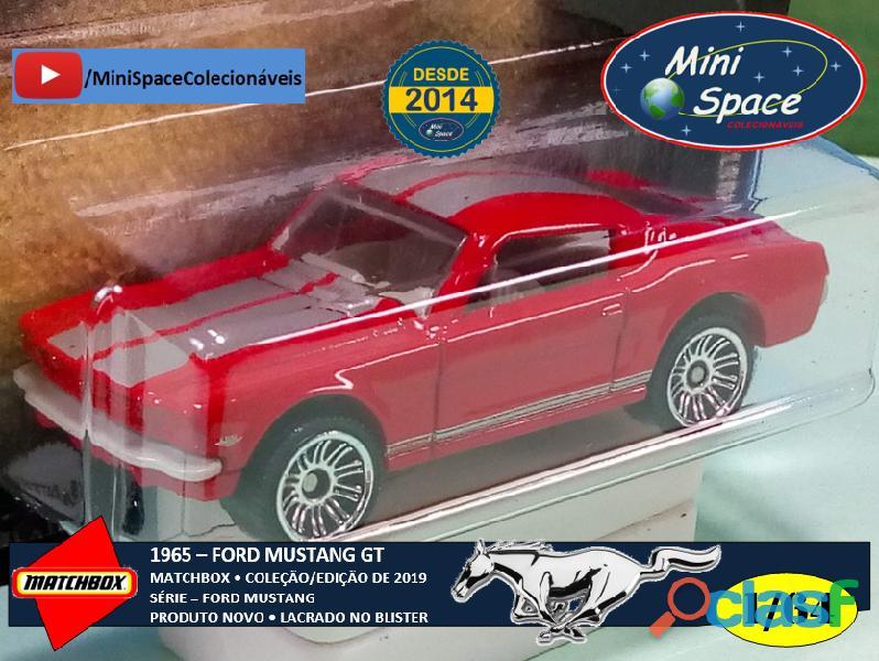 Matchbox 1965 Ford Mustang GT cor Vermelho 1/64 4