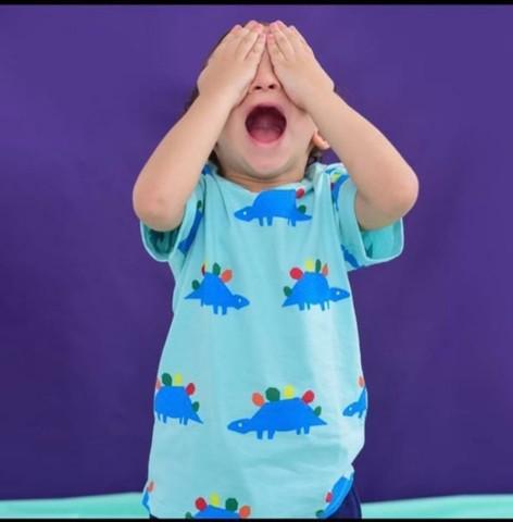 Blusa infantil estampa dinossauro