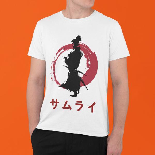 Camiseta estampa de samurai