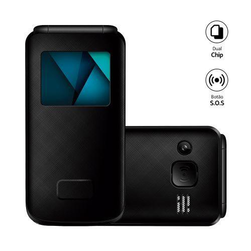 Celular Flip Vita Lite Multilaser Preto - P9142 P9142