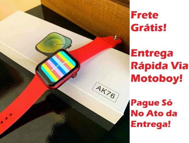 Relógio smartwatch (digital ak76 pro) versão 2021! frete