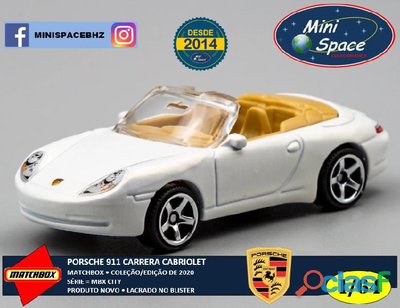 Matchbox Porsche 911 Carrera Cabriolet cor Branco 1/64