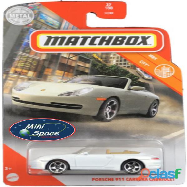 Matchbox Porsche 911 Carrera Cabriolet cor Branco 1/64 1