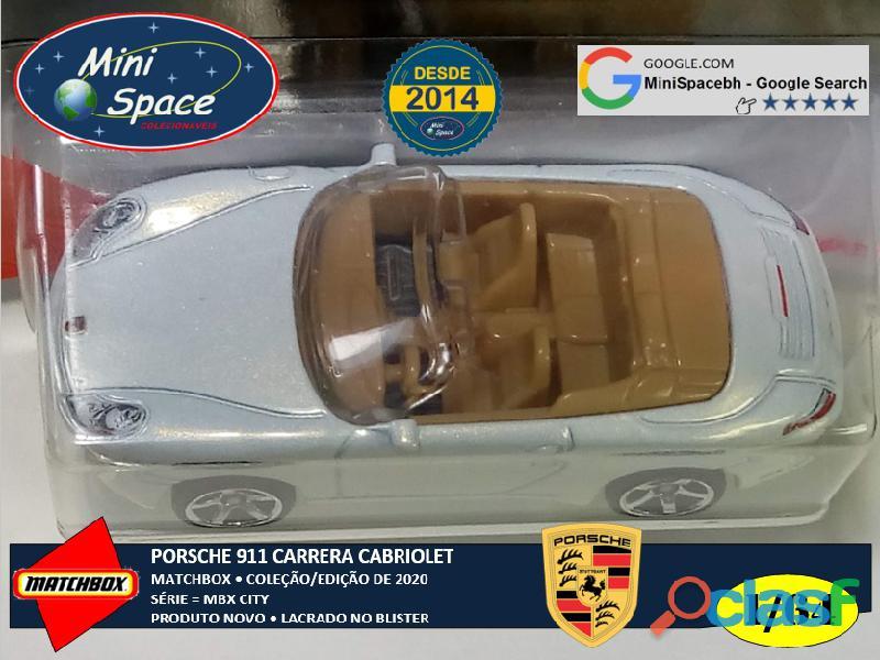 Matchbox Porsche 911 Carrera Cabriolet cor Branco 1/64 2