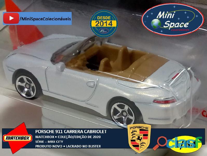 Matchbox Porsche 911 Carrera Cabriolet cor Branco 1/64 3
