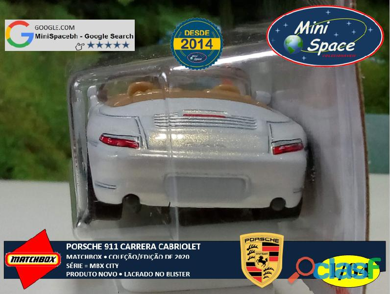 Matchbox Porsche 911 Carrera Cabriolet cor Branco 1/64 5