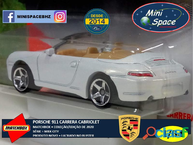 Matchbox Porsche 911 Carrera Cabriolet cor Branco 1/64 7