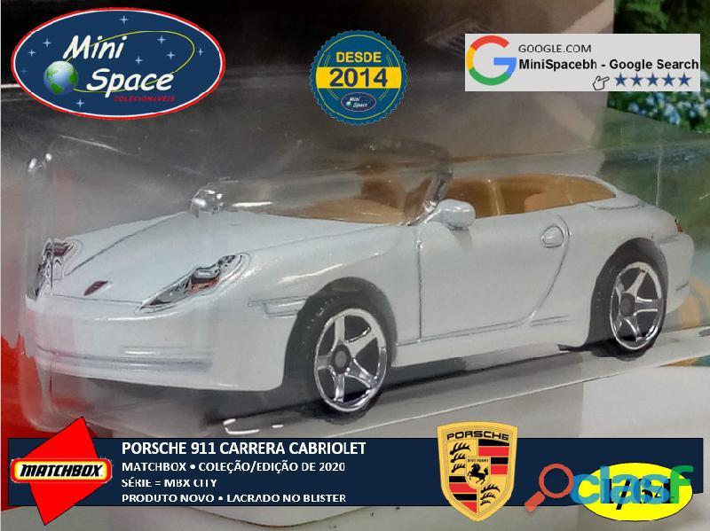 Matchbox Porsche 911 Carrera Cabriolet cor Branco 1/64 8