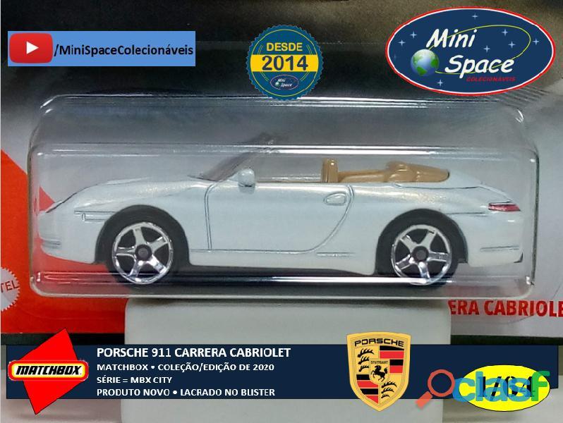Matchbox Porsche 911 Carrera Cabriolet cor Branco 1/64 9
