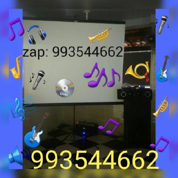 Aluguel de telão, som, dj e iluminação para festas e