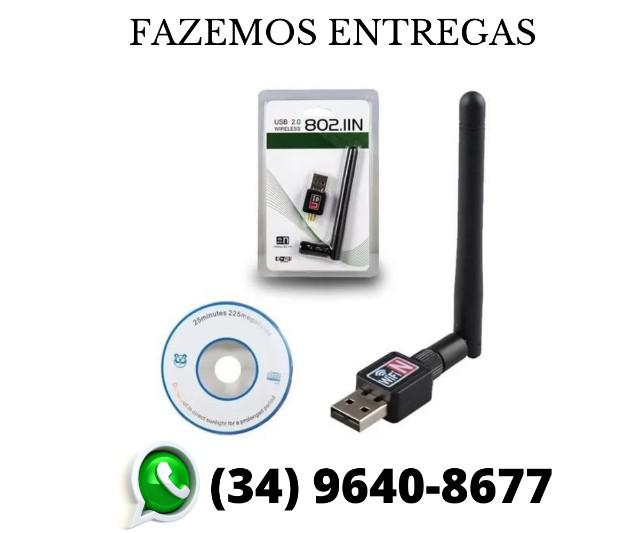 Antena wi-fi adaptador wireless 1200mbs usb pc notebook novo