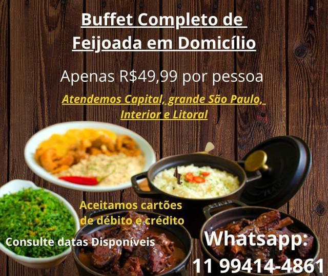 Buffet de crepe/buffet em domicilio/buffet de massa