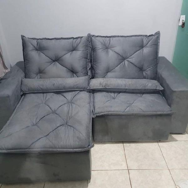Sofá retrátil e reclinável.entrega em 24 horas, pagamento