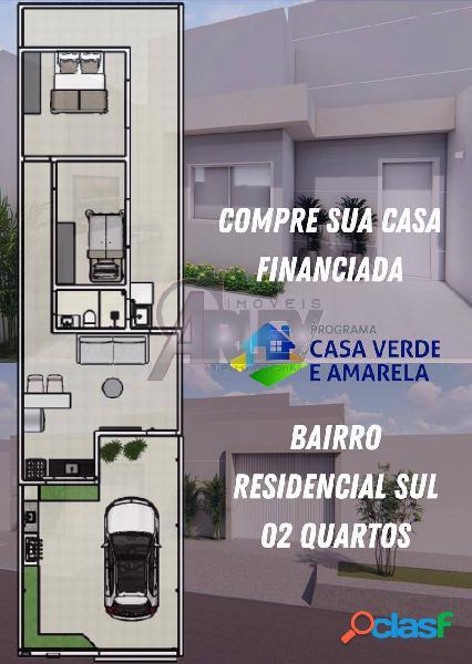 Residencial sul|vendo casa de 2/4 dividimos entrada em até 10x