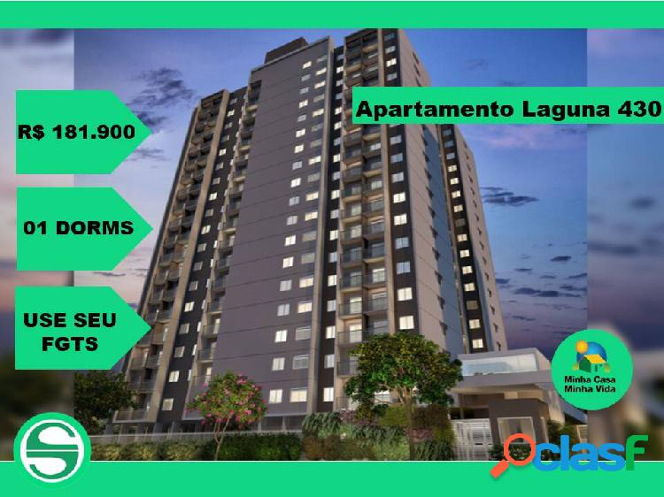 Apartamento laguna 430 plano e plano - de 1 dormitório - na chácara santo