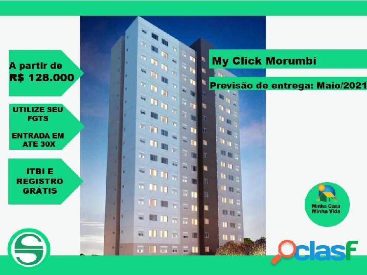 Apartamento my click morumbi de 1 e 2 dormitórios
