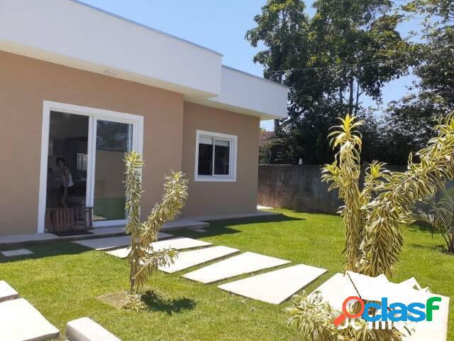 Casa nova, 2 dormitórios, 70m², pontal de santa marina - caraguatatuba/sp