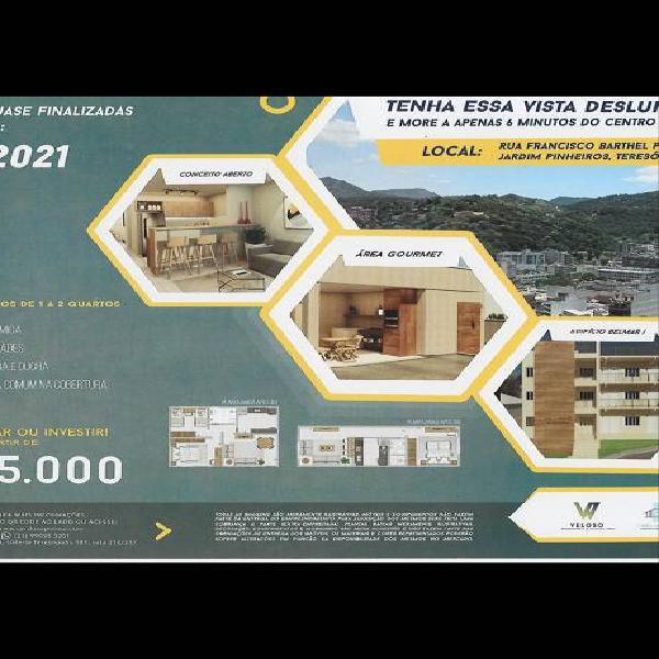 Apartamento para venda tem 60 metros quadrados com 2 quartos