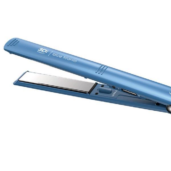 Prancha Gama Italy Elegance Blue Titanium 3D Bivolt Azul